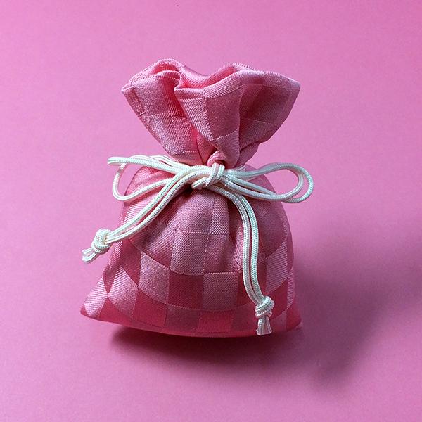 匂い袋 桃の香り 正絹