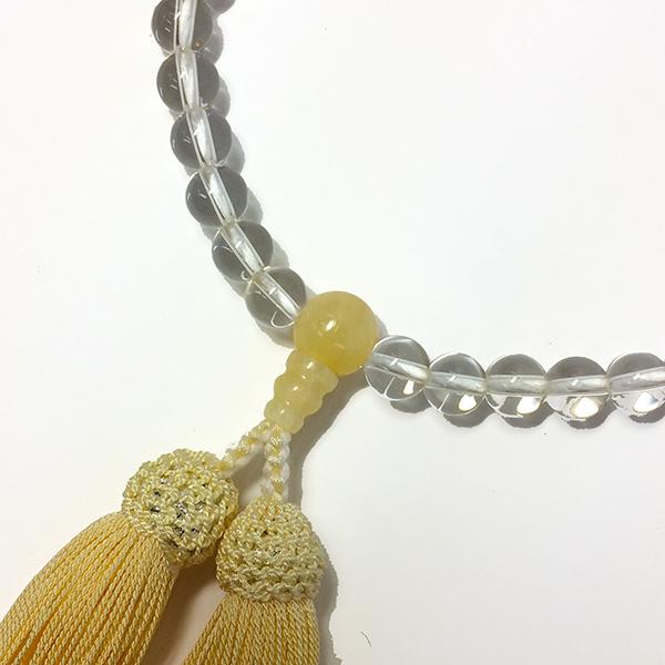 略式念珠 片手念珠 水晶イエローオニキス仕立