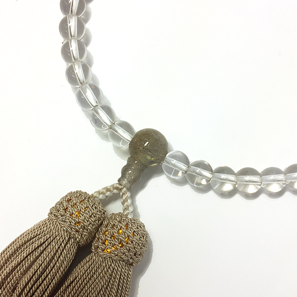略式念珠 片手念珠 水晶ラブラドライト仕立