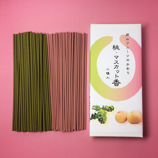 三香堂 線香 桃・マスカット香短寸