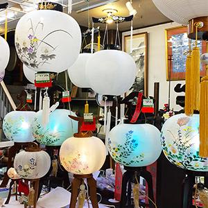 三香堂 盆提灯展示