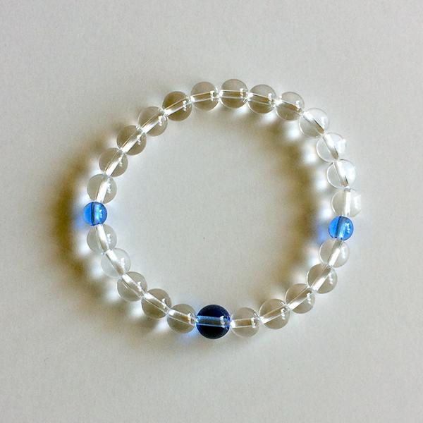 水晶 7㎜ 青水晶 ブルークォーツ